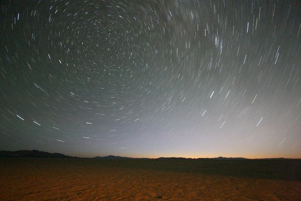 Night sky above teh Black Rock Desert